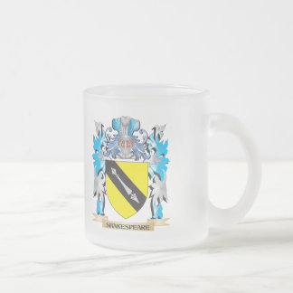 Shakespeare Coat of Arms - Family Crest 10 Oz Frosted Glass Coffee Mug