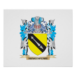 Shakespeare Coat of Arms - Family Crest Posters