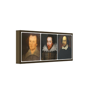 Shakespeare Collage Wrapped Canvas Print