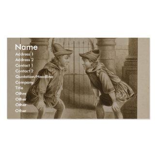 Shakespeare comedia teatro retro de los errores tarjetas de visita