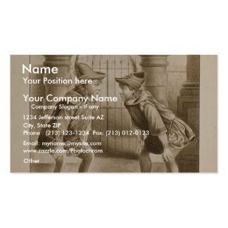 Shakespeare comedia teatro retro de los errores tarjeta de visita