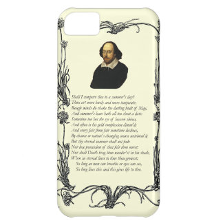 Shakespeare compararé thee a un día de verano funda para iPhone 5C