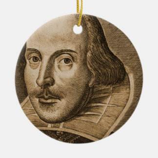 Shakespeare Droeshout Engraving Ceramic Ornament