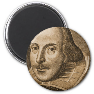 Shakespeare Droeshout Engravings 2 Inch Round Magnet