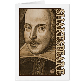 Shakespeare Droeshout Engravings Card