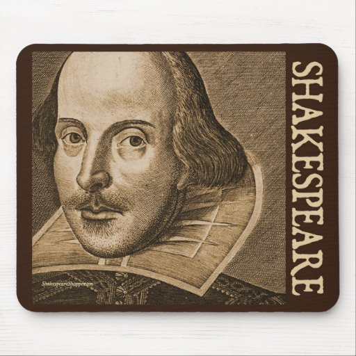 Shakespeare Droeshout Engravings Mouse Pad