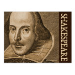 Shakespeare Droeshout Engravings Postcard