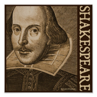 Shakespeare Droeshout Engravings Print