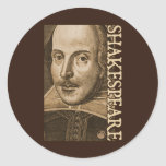Shakespeare Droeshout Engravings Round Stickers