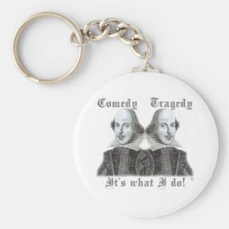 ¡Shakespeare - es lo que lo hago! Llavero Redondo Tipo Pin