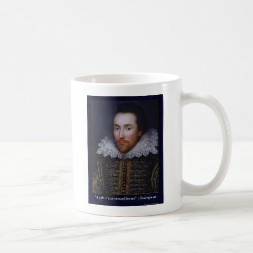 Shakespeare Estrella-Cruzó camisetas de las tazas