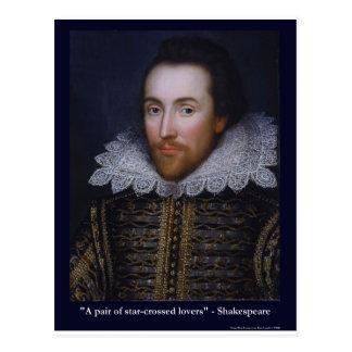 Shakespeare Estrella-Cruzó camisetas de las tazas  Postales