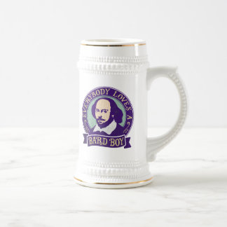 Shakespeare Everybody Loves a Bard Boy Beer Stein