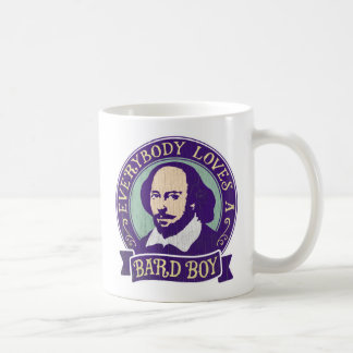Shakespeare Everybody Loves a Bard Boy Coffee Mug