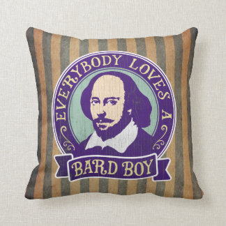 Shakespeare Everybody Loves a Bard Boy Throw Pillow