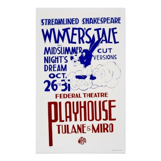 Shakespeare Express 1940 WPA Poster