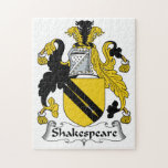 Shakespeare Family Crest Jigsaw Puzzles