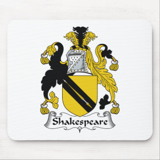 Shakespeare Family Crest Mouse Pad