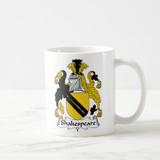 Shakespeare Family Crest Classic White Coffee Mug