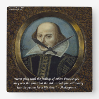 Shakespeare & Famous Feelings Quote Wall Clock
