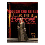 Shakespeare Fierce Quote Postcard