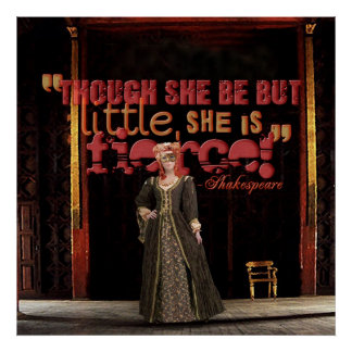 Shakespeare Fierce Quote Poster