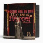 Shakespeare Fierce Quote Vinyl Binders