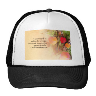 Shakespeare Friends Quotation Mesh Hat