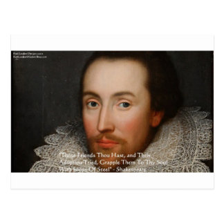"Shakespeare ""Friends"" Wisdom Quote Gifts & Tees Postcard"