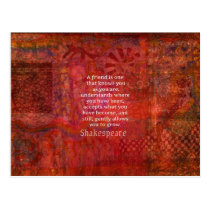 Shakespeare FRIENDSHIP Quote Postcard
