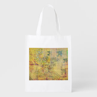 Shakespeare funny quote from AS YOU LIKE IT Reusable Grocery Bag