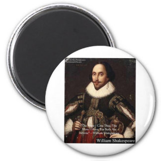 "Shakespeare ""Give Infinitely"" Love Quote Gifts Etc Magnet"