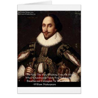 """Shakespeare Halloween """"Hell Contagion"""" Quote Gifts Card"""
