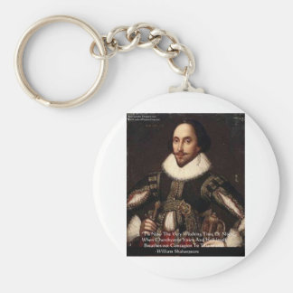 """Shakespeare Halloween """"Hell Contagion"""" Quote Gifts Keychain"""