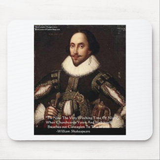"""Shakespeare Halloween """"Hell Contagion"""" Quote Gifts Mouse Pad"""