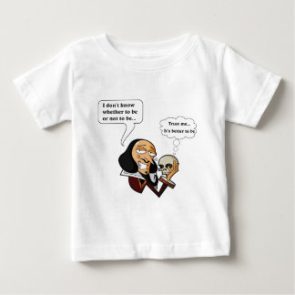 Shakespeare Hamlet, To Be or Not To Be Baby T-Shirt