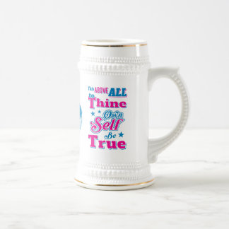 Shakespeare Hamlet To Thine Own Self Be True Quote Beer Stein