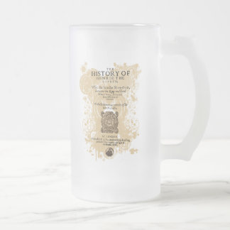 Shakespeare Henry IV Part I Quarto Front Piece 16 Oz Frosted Glass Beer Mug