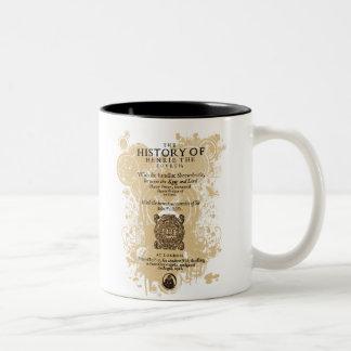 Shakespeare Henry IV Part I Quarto Front Piece Two-Tone Coffee Mug