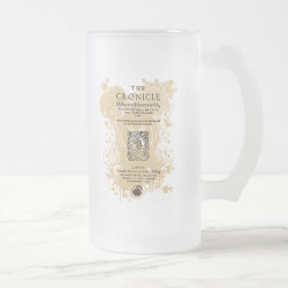 Shakespeare Henry V Quarto Front Piece 16 Oz Frosted Glass Beer Mug