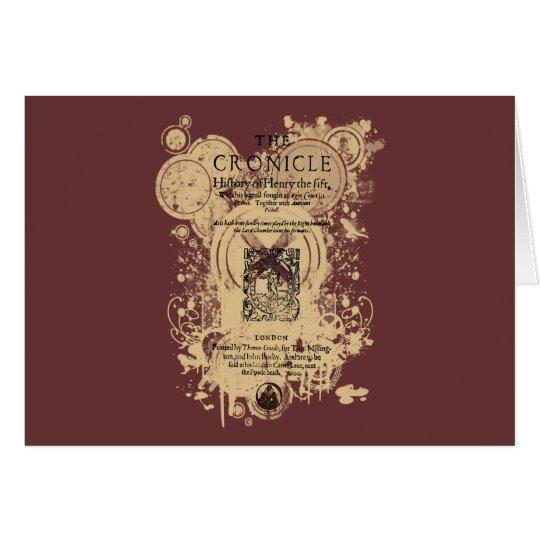 Shakespeare Henry V Quarto Front Piece Card