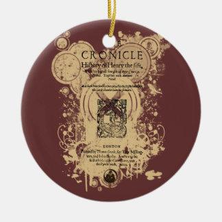 Shakespeare Henry V Quarto Front Piece Ceramic Ornament