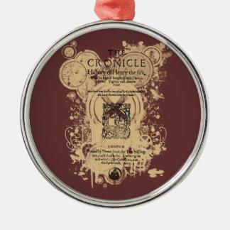 Shakespeare Henry V Quarto Front Piece Metal Ornament