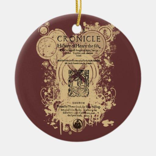 Shakespeare Henry V Quarto Front Piece Christmas Ornament