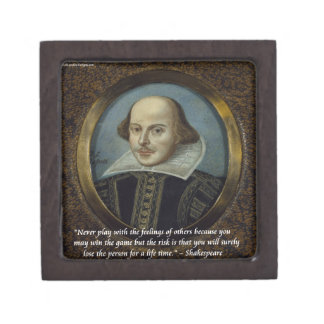 Shakespeare & His Famous Feelings Quote Jewelry Box