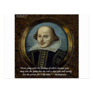 Shakespeare & His Famous Feelings Quote Post Card