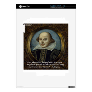 Shakespeare & His Famous Feelings Quote Skins For The iPad 2