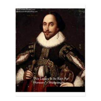"""Shakespeare """"Honesty Legacy"""" Quote Gifts & Cards"""