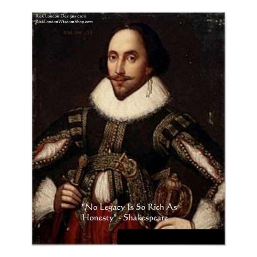 shakespeare honesty legacy quote poster zazzle