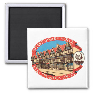 Shakespeare Hotel, Stratford on Avon Luggage Label Magnet